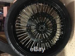11.5 Noir Super Spoke Avant Et Arrière Rotors Et 2 Pads Lyndall Kit 00-07 Harley