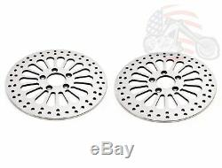 11.5 Rotors Arrière Avant De Super Spoke Set Kit De Freins En Acier Inoxydable 84-13 Harley