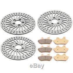 11.5 Spoke Frein À Disque Rotors + Pads Electra Glide Classique / Ultra Classic 00-07