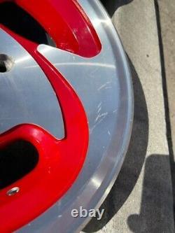 15 Vintage Roues Rims Alliage Ar-39 American Racing 4 Lug 4x108 4x4.25 Rouge