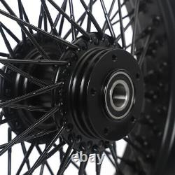 16 3.5 Avant Arrière 72 Spoked Wheels Single Disc Pour Harley Softail Fatboy Dyna