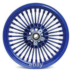 16 Front Rear Wheels Fat Spokes Pour Touring Road King Flhr 84-07 Pour Dyna Fxdl
