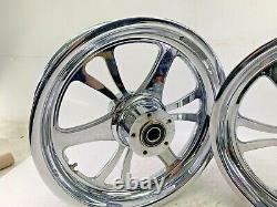 16 X 3.5 Chrome 6 Spoke Avant Roue Rim Set Pour Harley Touring Softail