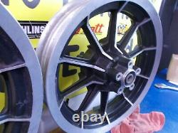 16 X 3 Avant Et Arrière 10 Spoke Mag Wheels Harley Davidson Flt Touring 1987-1999