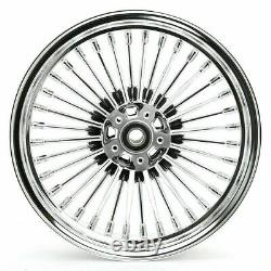16x3.5 Chrome Fat Spoke Front Rear Cast Wheels Pour Harley Touring Softail Dyna