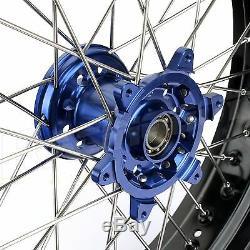 17 & 17 Supermoto Set Moyeux À Rayons Jantes Rotors Yamaha Yz250f Yz450f 09-13
