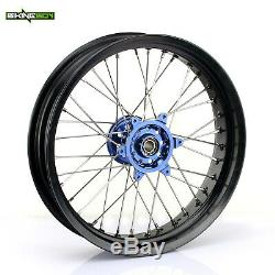 17 Supermoto Roues F-r Complètes Jantes Rayons Pour Yamaha Yzf 250 Yz-f 450 14 15