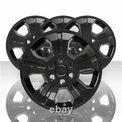 18 Black Wheel Skin Hub Caps Alliage Rim Couvertures Complètes Pour 2014-2019 Silverado 1500