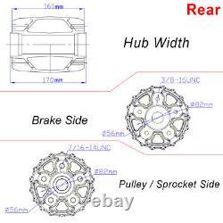 18x3.5 Fat Spoke Wheels Rims Set For Harley Road King Glide Street Glide 00-07