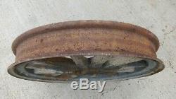 1923 1924 Buick 24 Bois Roue Avec Rim Originale Rayon Steel Fellow Script Cosses