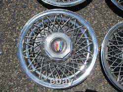 1978 À 1985 Buick Lesabre Estate Wagon 15 Pouces Fil Parlé Hubcaps Couvertures De Roue