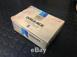 1980 Nos Shimano Dura Modèle Ace Pro Hub Moyeu Avant / Arrière Petite Bride Trous Pour Rayons 24h