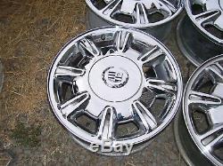 1992-2005 Cadillac Oem Factory Ensemble De 4 Jantes Roues En Chrome À 8 Rayons, 16 X 7