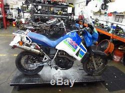 1992 89-95 Kawasaki Klr650 Kl650 Sunrim Noir Spoked Avant Rim Arrière Jantes