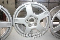 1997 1998 1999 C5 Corvette Oem Silver 5 Spoke Argent Wagon Wheels Ensemble De 4