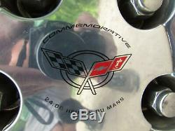 2000-2004 Corvette C5 Avant Et Arrière Chromé Roues Oem 5 Spoke Polished Qf5