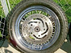 2007 Harley-davidson Softail Deluxe Avant Et Arrière Roues Pneus 16 Spoke