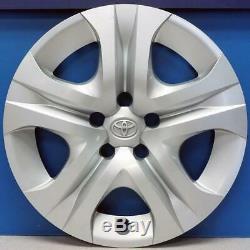 2013-2015 Toyota Rav4 Le # 61170 17 5 Spoke Hubcaps / Enjoliveurs Set / 4 Utilisé