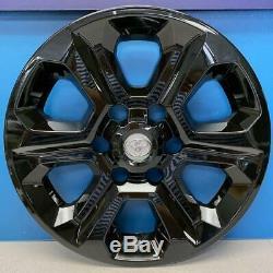 2014-2019 Toyota 4runner # 7751g-b 17 6 spoke Gloss Black Wheel Skins Nouveau Set / 4
