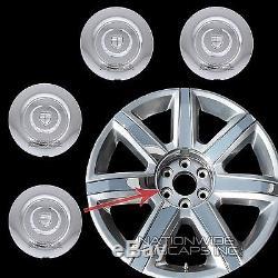 2015 16 17 Cadillac Escalade 22 Centre De Roue Chrome Rim-moyeux Covers Lug