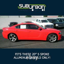 2015-2019 Chargeur Dodge R/t # 2252p-c 20 5 Peaux De Roues Chrome Spoke Nouveau Set/4