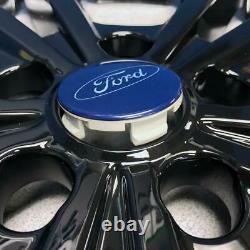 2017-2019 Ford Escape Se / Sel 17 Skins De Roue Noir Brillant # Imp-414blk Set 4