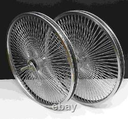 20 Arrière - Front Beach Cruiser Lowrider 140 Rayons Roues Coaster Frein Chrome