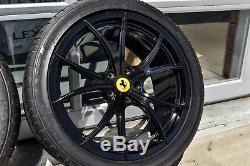 20 Oem Ferrari 458 Rares Jantes Légères À Rayons Multiples, Disponibles En Option