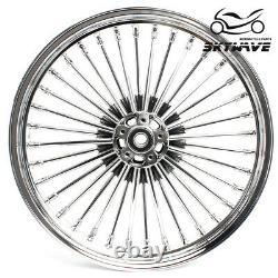 21&16 Fat Spoke Tubeless Front Rear Wheels Sportster Dyna Softail Touring 84-07
