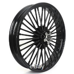 21 18 Avant Arrière Double Disque Fat Spokes Softail Road King Sportster Dyna Touring