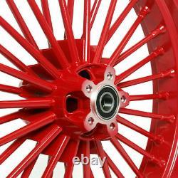 21 18 Avant Et Arrière Red Cast Wheel Set 36 Fat King Spoke Dyna Sportster Softail
