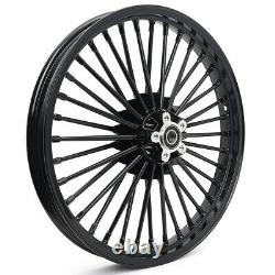 21/18 Dual Disc Fat Spoke Front Rear Wheels Rims Dyna Softail Springer Touring