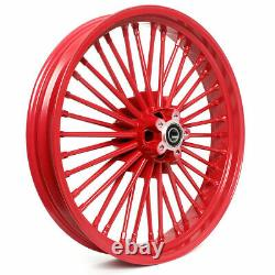 21/18 Fat Spoke Dual Disc Front Rear Cast Wheels Dyna Softail Touring Pour Harley
