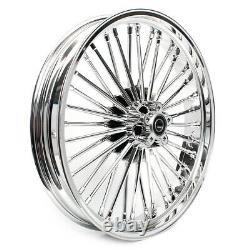 21 18 Roues Arrière Avant Cast Wheels Dual Disc Fat Spokes For Sportster Custom Xl883c
