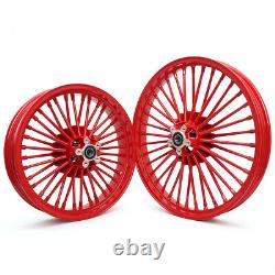 21 18 Roues Arrière Avant Dual Disc Fat Spoke For Sportster Touring Softail Dyna