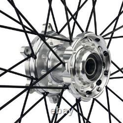 21&19 Avant Arrière Spoke Wheel Set Pour Yamaha Yzf250 Yzf450 Yz250f Yz450f 14-19