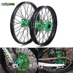 21 19 Kawasaki MX Roues Jantes Moyeux Spokes Kx250f Kx450f 06-18 Kx125 Kx250 06-13