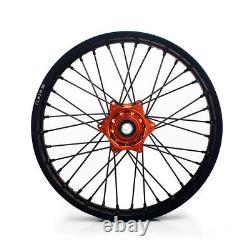 21/19 Spoked Wheel Rim Hub Set For Ktm Exc Sx XC Sxf 250 350 450 525 530 2003-19