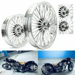 21 3.5 Avant 16 3.5 Roues À Rayons Gras Arrière Pour Harley Dyna Softail Touring