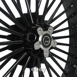 21 Avant 16 Roues Arrière Dual Disc Fat Spokes Pour Dyna Wide Glide Electra Glide
