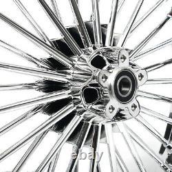 21 Avant + 18 Roues À Roulettes Arrière Dual Disc Fat Spokes Sportster Dyna Road King