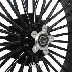 21 Avant + 18 Roues Arrière Dual Disc Fat Spokes Electra Glide Road King Softail