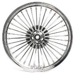 21 Front 18 Rear Cast Wheels Dual Disc 36 Fat Spoke Pour Softail Flstc Pour Dyna