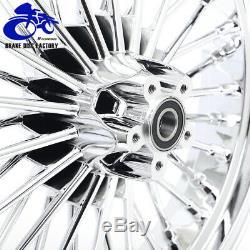 21 X 18 X 3,5 2,15 Chrome Fat Spoke Avant Roue Arrière Rim Dyna Softail Touring