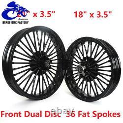 21 X 18 X 3.5 Et 3.5 Fat Spoke Tubeless Roue De Jantes Pour Harley Dyna Softail