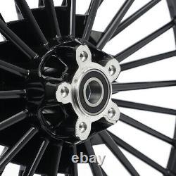 21x2,15 18x3.5 Black Front Rear Spokes Wheels Set Pour Harley Dyna Sportster