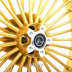 21x3.5 18x5.5 Jantes Fat Spoke Wheels Pour Harley Bagger Road King Glide 2000-2007