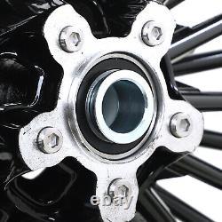 21x3.5 Roues 18x3.5 Gras Spoke Rims Set Pour Harley Touring Bagger Electra Glide