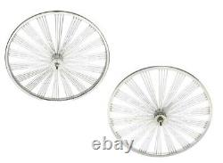 26 Arrière & Front Beach Cruiser Fan Style144 Rayons Roues Coaster Frein Chrome
