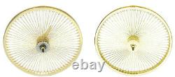 26 Arrière & Front Beach Cruiser Lowrider 144 Rayons Roues Coaster Frein Gold